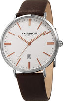 Akribos XXIV Mens Black Strap Watch-A-935ssrg