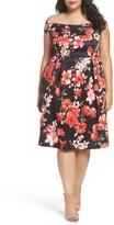 Dorothy Perkins Plus Size Women's Floral Fit & Flare Dress