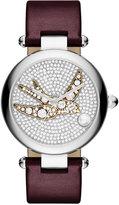 Marc Jacobs Women's Dotty Oxblood Leather Strap Watch 34mm MJ1488