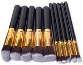 10 PCS Professional Makeup Set Pro Kits Brushes Makeup Cosmetics Brush Tool (Gold)