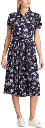 Chaps Women's Soft Floral Print Fit-and-Flare Dress