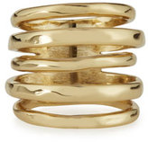 Alexis Bittar Stacked Golden Ring