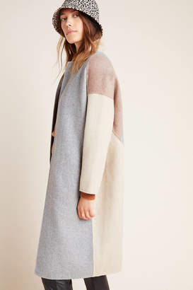 Theriver By Jtw Soren Colorblocked Wool Coat