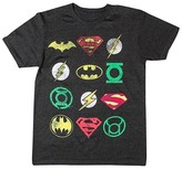 DC Comics Men's DC Comics Logo T-Shirt Charcoal