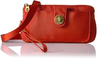 Baggallini Lisbon Wallet with RFID Protection Gold Hardware with Lightweight Nylon