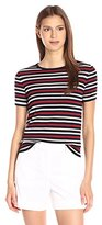 Theory Women's Tolleree S Refine Sweater, Deep Navy Stripe