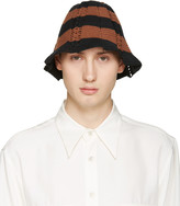 Wales Bonner Black & Brown Crochet Karim Hat