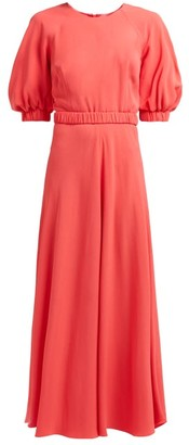 Goat Hannah Belted Crepe Maxi Dress - Womens - Fuchsia