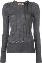 No.21 bow detail jumper - women - Silk/Wool - 42