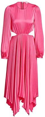 A.L.C. Naples Cutout Pleated Midi Dress