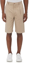 Helmut Lang MEN'S WASHED SATEEN SHORTS-NUDE SIZE 28