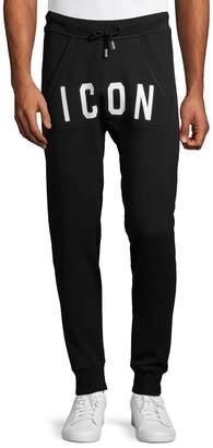 DSQUARED2 Graphic Cotton Jogger Pants
