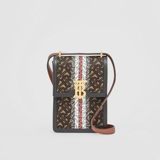 Burberry Monogram Stripe E-canvas Robin Bag