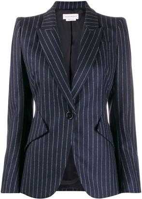 Alexander McQueen fitted pinstripe blazer