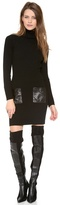 Thumbnail for your product : Milly Leather Pocket Knit Dress