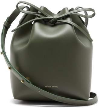 Mansur Gavriel Mini Leather Bucket Bag - Womens - Green