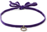 Dannijo Vix Velvet, Silver-plated And Swarovski Crystal Choker - Purple