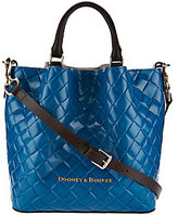 Dooney & Bourke As Is Small Woven Embossed Leather Barlow Satchel