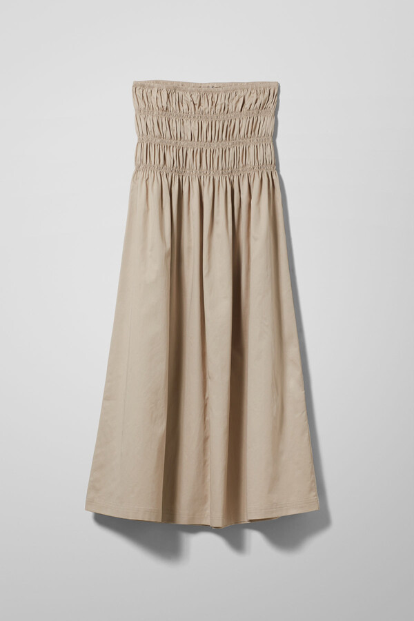 Thumbnail for your product : Weekday Maxim Skirt - Beige