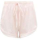 The Upside Anela Stretch-jersey Drawstring Shorts - Womens - Light Pink