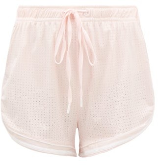 The Upside Anela Stretch-jersey Drawstring Shorts - Womens - Light Pink