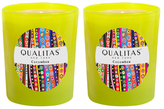Qualitas Candles Cucumber Beeswax Candles (Set of 2) (6.5 OZ)