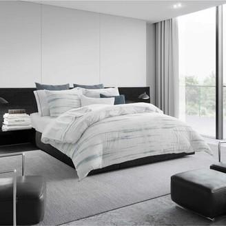 Vera Wang Marble Shibori Waves Linen Throw Pillow
