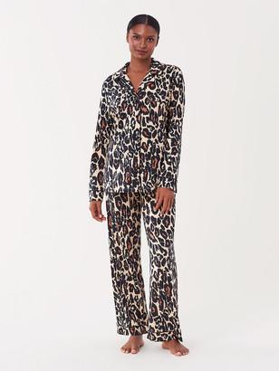 Diane von Furstenberg Cotton-Blend Pajama Set