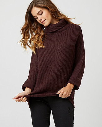 Le Château Rib Knit Cowl Neck Sweater