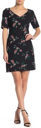 Draper James Floral V-Neck Dress