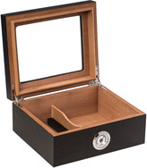 Bey-Berk Espresso Wood Cigar Humidor With Spanish Cedar Lining