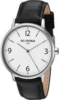 Ben Sherman Men's WB023BA Portabello Casual Analog Display Quartz Black Watch