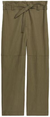 Arket Flowy Paperbag Trousers