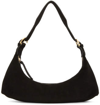 BY FAR Black Suede Mara Shoulder Bag