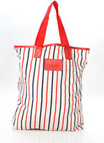 Marc by Marc Jacobs Multi-Color Striped Heart Print Nylon Tote Handbag