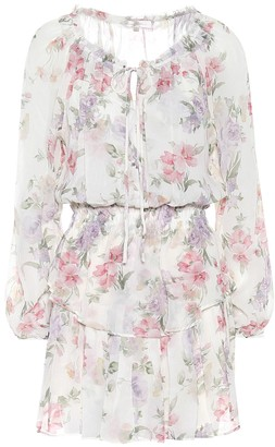 LoveShackFancy Popover floral silk dress