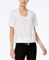 Armani Exchange Short-Sleeve Drawstring Top