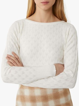 Warehouse Ribbon Stitch Scallop Edge Jumper