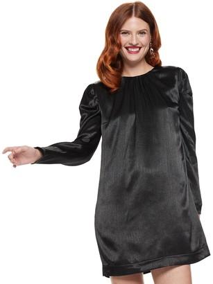 Nine West Women's Puff Sleeve Shift Dress