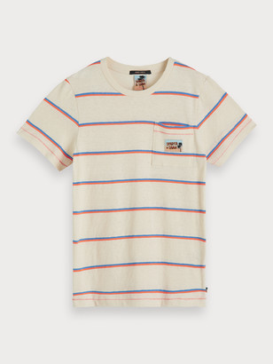 Scotch & Soda Striped Cotton-Linen T-Shirt | Boys