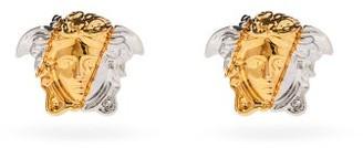 Versace Medusa-engraved Earrings - Silver Gold