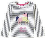 Joules Little Girls 3-6 Rava Horse Shoes Striped Jersey Top