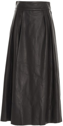 Dolce & Gabbana A-Line Leather Skirt
