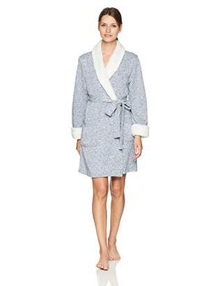 Arabella Amazon Brand Women's Sweater Fleck Shawl Collar Wrap Robe