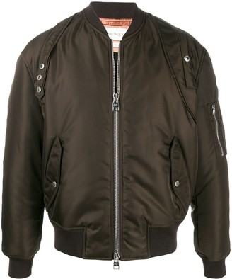Alexander McQueen Short Zipped Bomber Jacket