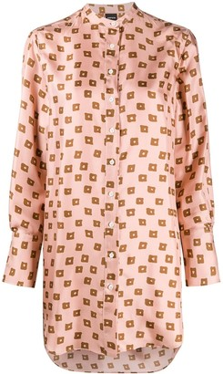 Aspesi Geometric-Pattern Silk Shirt