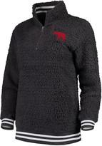 Unbranded Women's Charcoal Alabama Crimson Tide Varsity Banded Sherpa Quarter-Zip Pullover Jacket