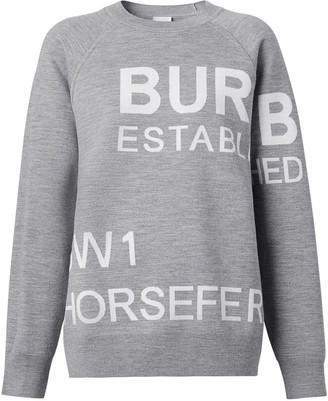 Burberry Horseferry jacquard jumper