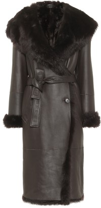 Joseph Cree shearling-trimmed leather coat