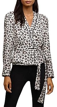 Bailey 44 Marguerite Leopard Print Wrap Top